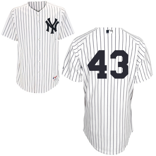 Adam Warren #43 MLB Jersey-New York Yankees Men's Authentic Home White Baseball Jersey
