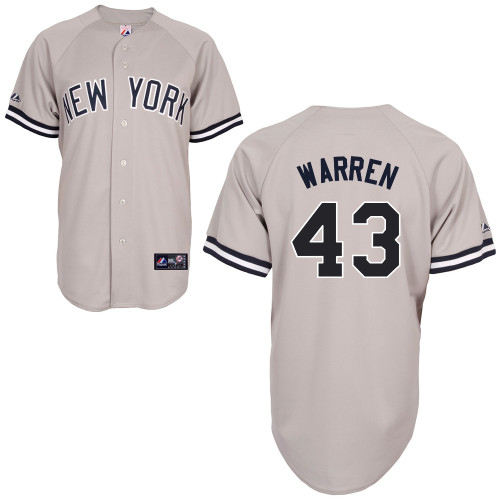 Adam Warren #43 MLB Jersey-New York Yankees Men's Authentic Replica Gray Road Baseball Jersey