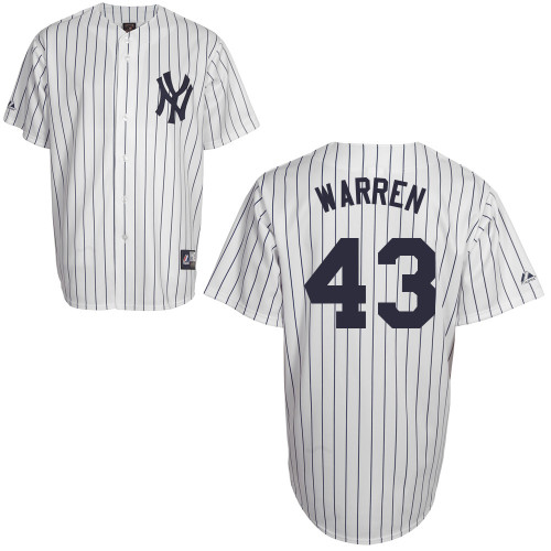 Adam Warren #43 Youth Baseball Jersey-New York Yankees Authentic Home White MLB Jersey
