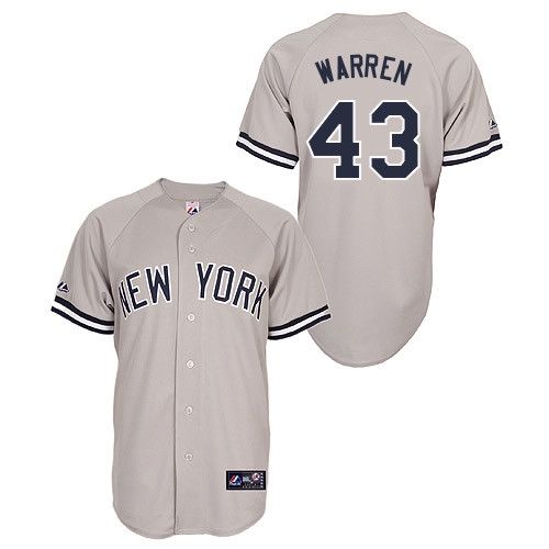 Adam Warren #43 Youth Baseball Jersey-New York Yankees Authentic Road Gray MLB Jersey