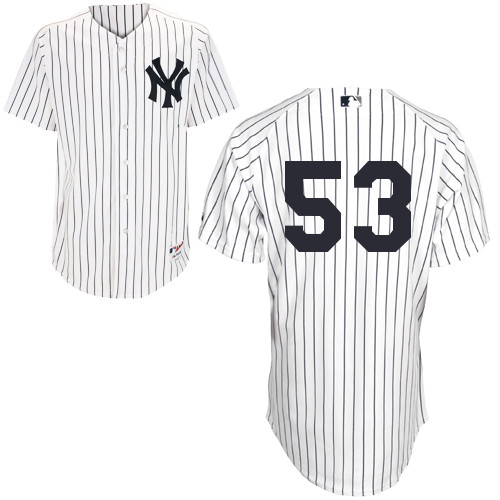 Austin Romine #53 MLB Jersey-New York Yankees Men's Authentic Home White Baseball Jersey
