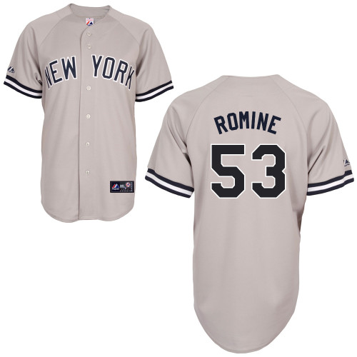 Austin Romine #53 mlb Jersey-New York Yankees Women's Authentic Replica Gray Road Baseball Jersey