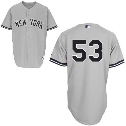 Austin Romine #53 MLB Jersey-New York Yankees Men's Authentic Road Gray Baseball Jersey