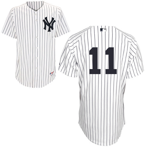 Brett Gardner #11 MLB Jersey-New York Yankees Men's Authentic Home White Baseball Jersey