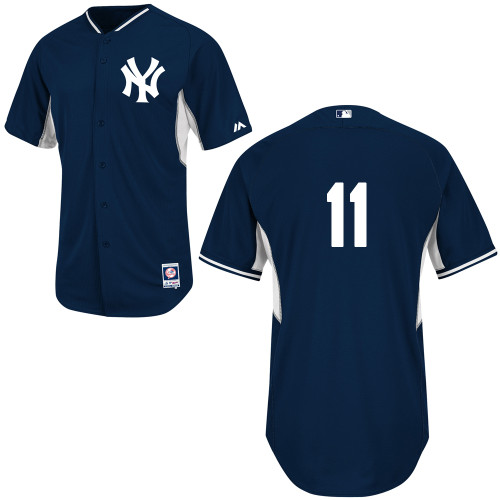 Brett Gardner #11 MLB Jersey-New York Yankees Men's Authentic Navy Cool Base BP Baseball Jersey