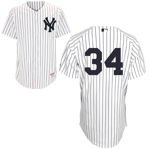Brian McCann #34 MLB Jersey-New York Yankees Men's Authentic Home White Baseball Jersey