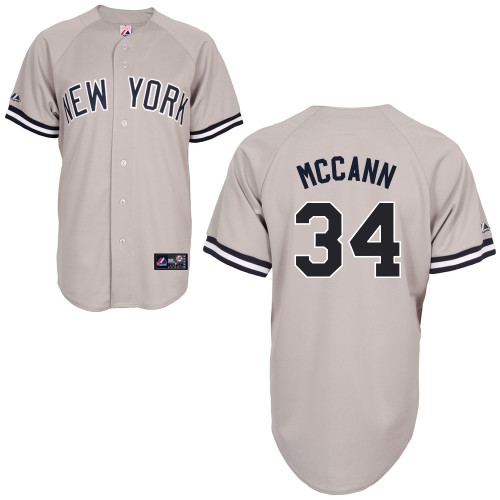 Brian McCann #34 MLB Jersey-New York Yankees Men's Authentic Replica Gray Road Baseball Jersey
