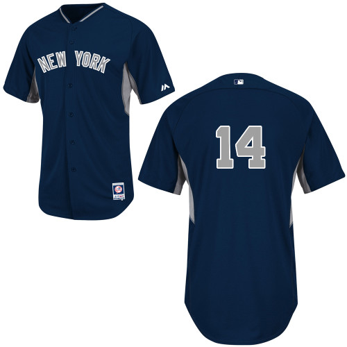 Brian Roberts #14 mlb Jersey-New York Yankees Women's Authentic 2014 Navy Cool Base BP Baseball Jersey