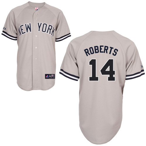 Brian Roberts #14 mlb Jersey-New York Yankees Women's Authentic Replica Gray Road Baseball Jersey