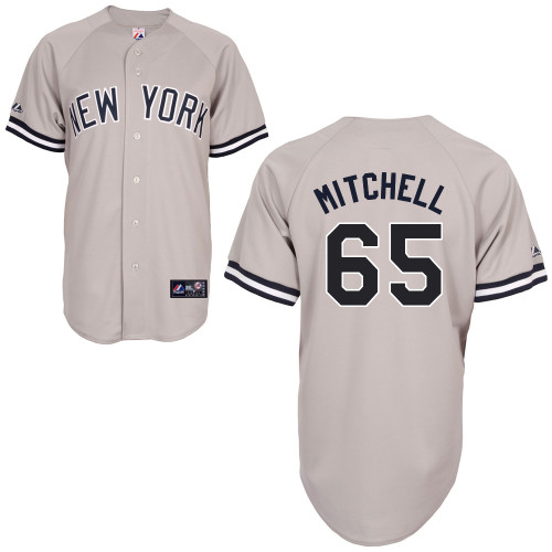 Bryan Mitchell #65 MLB Jersey-New York Yankees Men's Authentic Replica Gray Road Baseball Jersey