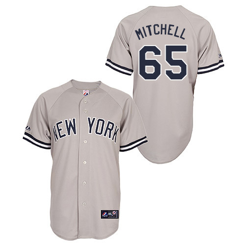 Bryan Mitchell #65 Youth Baseball Jersey-New York Yankees Authentic Road Gray MLB Jersey