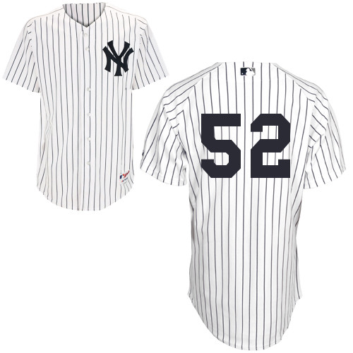 CC Sabathia #52 MLB Jersey-New York Yankees Men's Authentic Home White Baseball Jersey