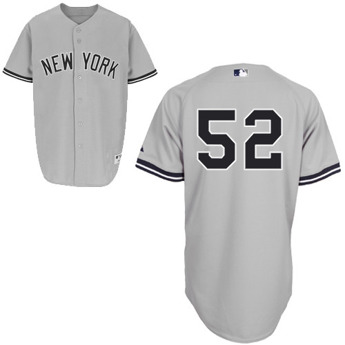 CC Sabathia #52 MLB Jersey-New York Yankees Men's Authentic Road Gray Baseball Jersey