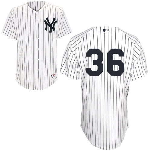 Carlos Beltran #36 MLB Jersey-New York Yankees Men's Authentic Home White Baseball Jersey