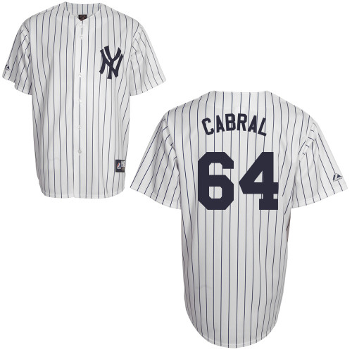 Cesar Cabral #64 Youth Baseball Jersey-New York Yankees Authentic Home White MLB Jersey