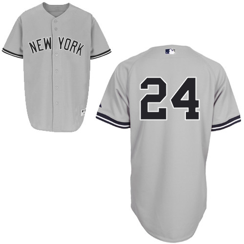 Chris Young #24 mlb Jersey-New York Yankees Women's Authentic Road Gray Baseball Jersey