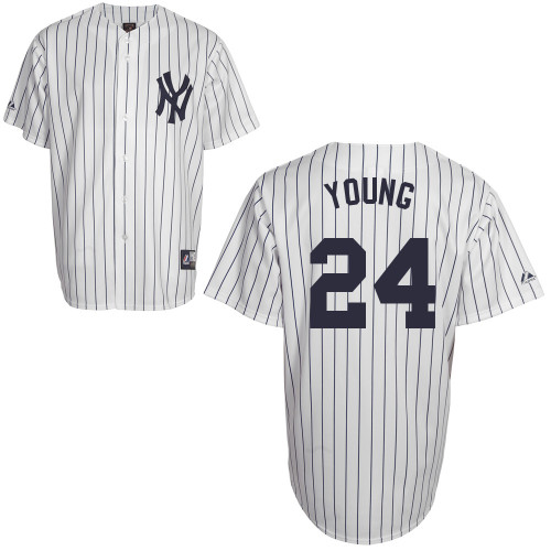 Chris Young #24 Youth Baseball Jersey-New York Yankees Authentic Home White MLB Jersey