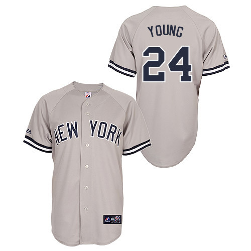 Chris Young #24 Youth Baseball Jersey-New York Yankees Authentic Road Gray MLB Jersey