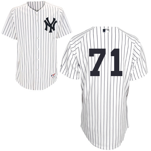 Corban Joseph #71 MLB Jersey-New York Yankees Men's Authentic Home White Baseball Jersey