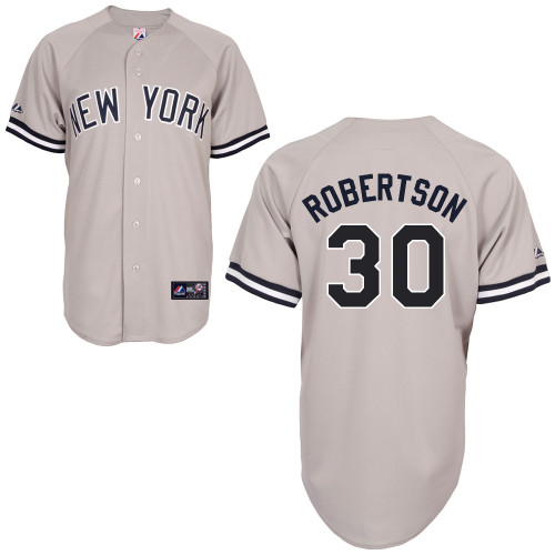 David Robertson #30 MLB Jersey-New York Yankees Men's Authentic Replica Gray Road Baseball Jersey