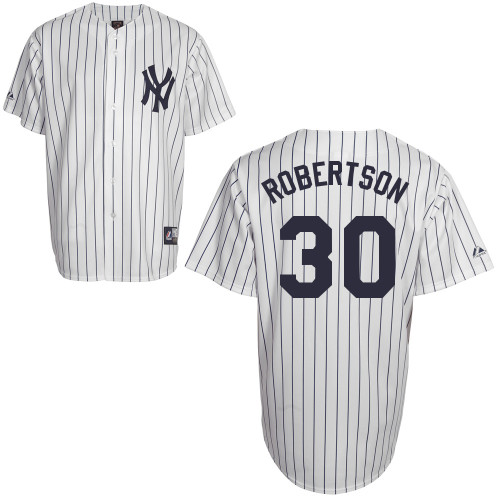 David Robertson #30 Youth Baseball Jersey-New York Yankees Authentic Home White MLB Jersey