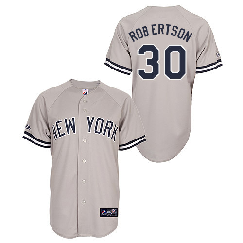David Robertson #30 Youth Baseball Jersey-New York Yankees Authentic Road Gray MLB Jersey