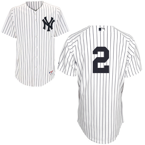 Derek Jeter #2 MLB Jersey-New York Yankees Men's Authentic Home White Baseball Jersey