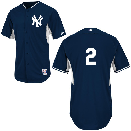 Derek Jeter #2 mlb Jersey-New York Yankees Women's Authentic Navy Cool Base BP Baseball Jersey