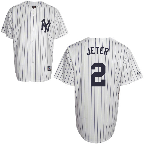 Derek Jeter #2 Youth Baseball Jersey-New York Yankees Authentic Home White MLB Jersey