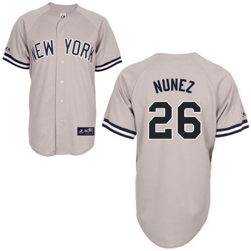 Eduardo Nunez #26 MLB Jersey-New York Yankees Men's Authentic Replica Gray Road Baseball Jersey