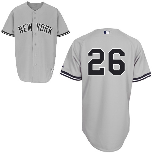 Eduardo Nunez #26 MLB Jersey-New York Yankees Men's Authentic Road Gray Baseball Jersey
