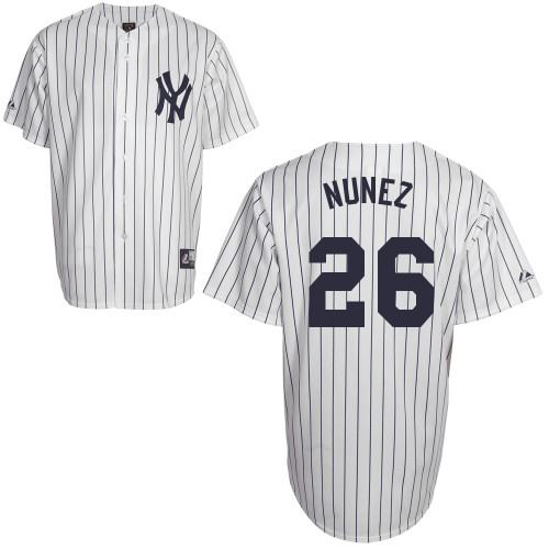 Eduardo Nunez #26 Youth Baseball Jersey-New York Yankees Authentic Home White MLB Jersey