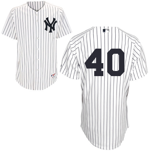 Eury Perez #40 MLB Jersey-New York Yankees Men's Authentic Home White Baseball Jersey