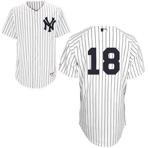Hiroki Kuroda #18 MLB Jersey-New York Yankees Men's Authentic Home White Baseball Jersey