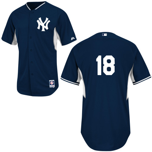 Hiroki Kuroda #18 MLB Jersey-New York Yankees Men's Authentic Navy Cool Base BP Baseball Jersey
