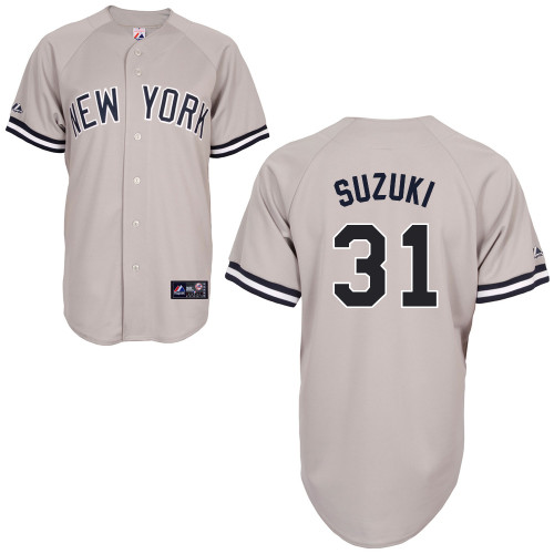 Ichiro Suzuki #31 mlb Jersey-New York Yankees Women's Authentic Replica Gray Road Baseball Jersey