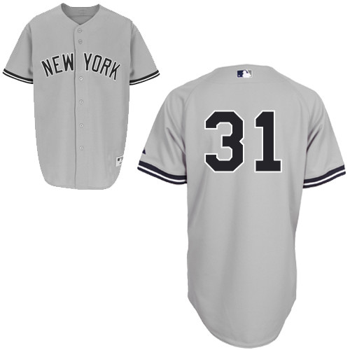 Ichiro Suzuki #31 MLB Jersey-New York Yankees Men\'s Authentic Road Gray Baseball Jersey
