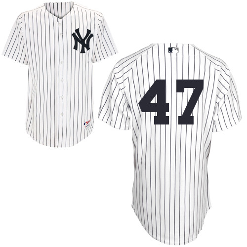 Ivan Nova #47 MLB Jersey-New York Yankees Men's Authentic Home White Baseball Jersey
