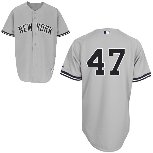 Ivan Nova #47 MLB Jersey-New York Yankees Men's Authentic Road Gray Baseball Jersey