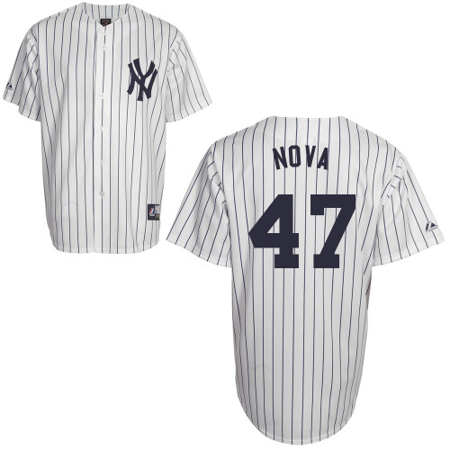 Ivan Nova #47 Youth Baseball Jersey-New York Yankees Authentic Home White MLB Jersey