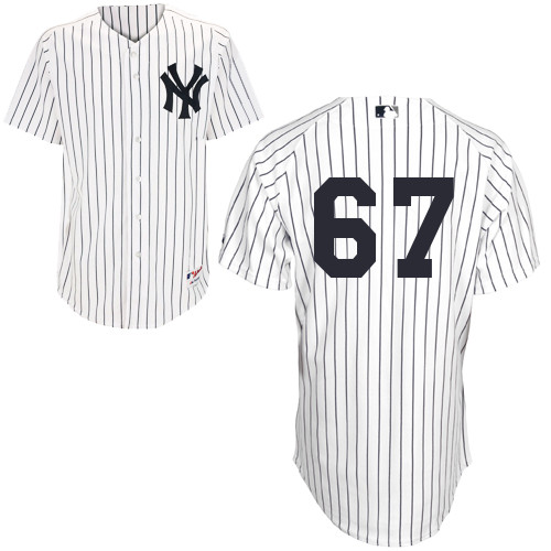 Jose Pirela #67 MLB Jersey-New York Yankees Men's Authentic Home White Baseball Jersey