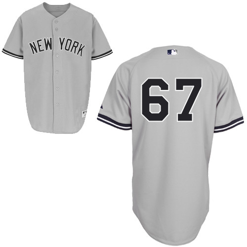 Jose Pirela #67 mlb Jersey-New York Yankees Women's Authentic Road Gray Baseball Jersey