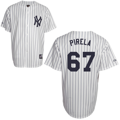 Jose Pirela #67 Youth Baseball Jersey-New York Yankees Authentic Home White MLB Jersey