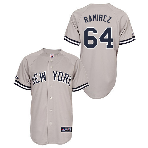 Jose Ramirez #64 Youth Baseball Jersey-New York Yankees Authentic Road Gray MLB Jersey