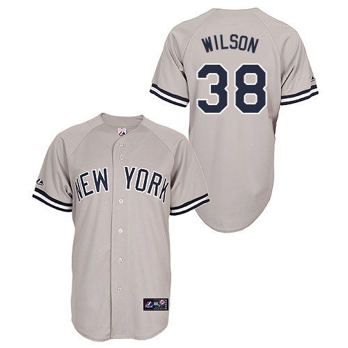 Justin Wilson #38 Youth Baseball Jersey-New York Yankees Authentic Road Gray MLB Jersey