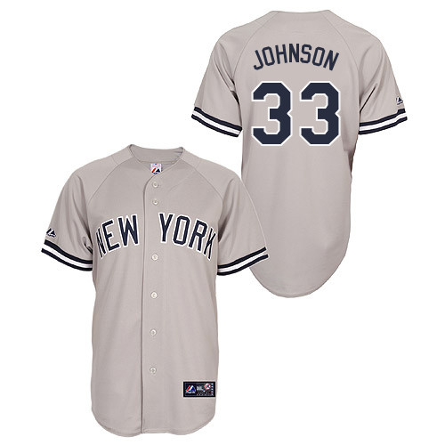 Kelly Johnson #33 Youth Baseball Jersey-New York Yankees Authentic Road Gray MLB Jersey