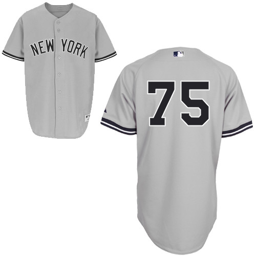 Manny Banuelos #75 mlb Jersey-New York Yankees Women's Authentic Road Gray Baseball Jersey