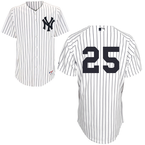 Mark Teixeira #25 MLB Jersey-New York Yankees Men's Authentic Home White Baseball Jersey