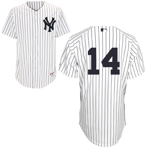 Martin Prado #14 MLB Jersey-New York Yankees Men's Authentic Home White Baseball Jersey