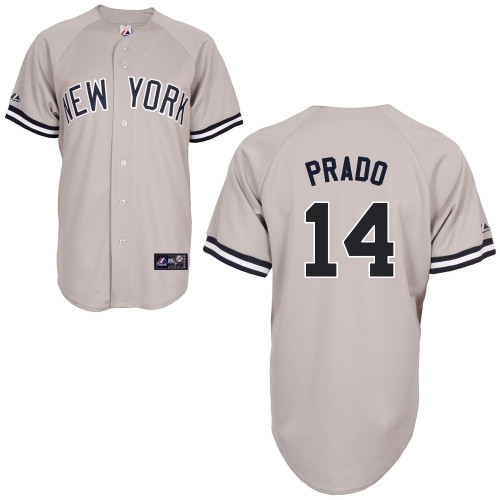 Martin Prado #14 MLB Jersey-New York Yankees Men's Authentic Replica Gray Road Baseball Jersey
